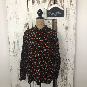 Vintage Pumpkin button down -Halloween